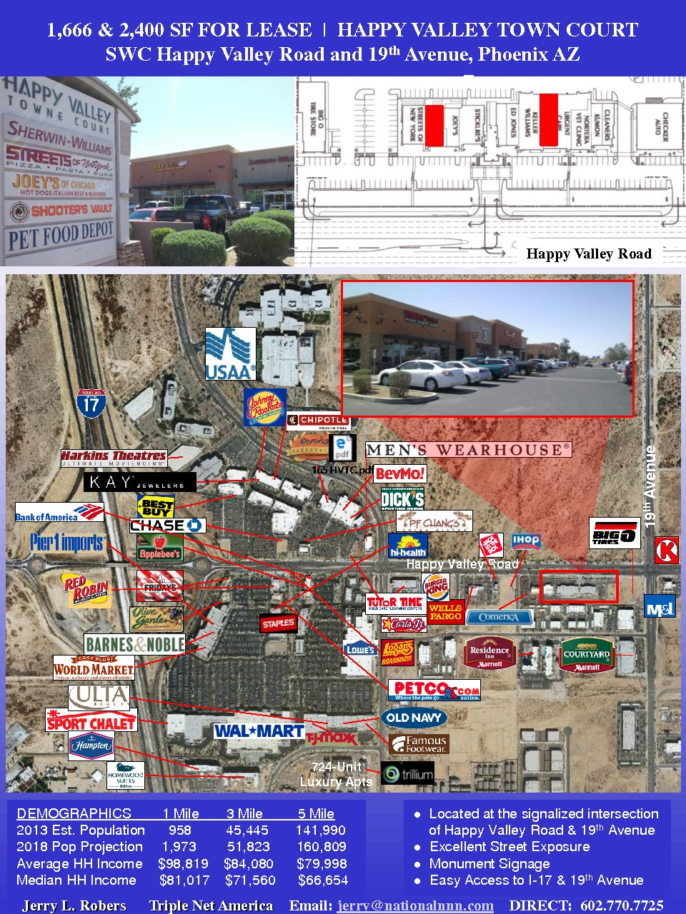 1,666 & 2,400 SF HVTC For Lease